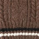 Brown Heather Angelle Alpaca Knit Fingerless Gloves