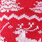Red-White Alpaca Reindeer Unisex Socks