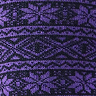 Black-Purple Alpaca Nordic Socks