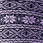 Black-Pink Alpaca Nordic Socks