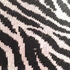 Black-Natural Zebra Alpaca Socks