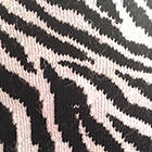 Black-Natural Zebra Alpaca Socks