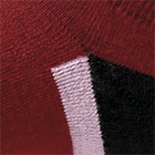 Burgundy-Black Sport Golf Kids Socks