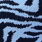 PowderBlue-Navy Zebra Alpaca Socks