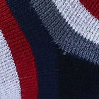 Navy-Black Colours Striped Alpaca Socks