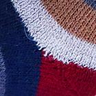 Camel-Burgundy Colours Striped Alpaca Socks