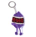 Chullo  comb.  Tiny Alpaca Knit keychain