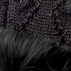 Black-FurBlack Presley Alpaca Fingerless Gloves with Fur