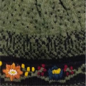 Green Bloom Alpaca Hat-Fleece Lining