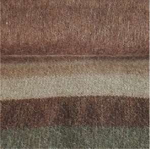 C0387-Brown Heather/Olive/Taupe Alpaca Cherokee Blanket