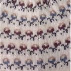 Natural-Burgundy Wanchaq Alpaca Knit Hat - Fleece Lining