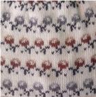 Natural-Dark Rust Wanchaq Alpaca Knit Hat - Fleece Lining
