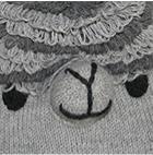 Lt. Grey-Comb. 1 Alpaca Kids - Alpaca Hat