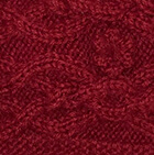 Burgundy Cable Alpaca Headband