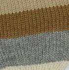 Camel-Multicolor Justin Striped Alpaca Long Fingerless Gloves