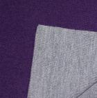 Purple-Lt. Grey Double-Face Alpaca Knit Ruana Wrap