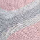 Silver Grey-Lt. Pink-Ivory Multi Striped Simply Alpaca Socks