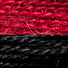 Black-Burgundy Double-Face Alpaca Knit Ruana Wrap