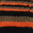 Multicolor 1 Junior Striped Alpaca Fingerless Gloves