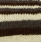 Multicolor 10 Junior Striped Alpaca Fingerless Gloves