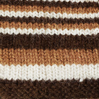 Multicolor 102 Junior Striped Alpaca Fingerless Gloves