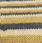 Multicolor 104 Junior Striped Alpaca Fingerless Gloves