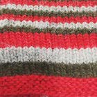Multicolor 105 Junior Striped Alpaca Fingerless Gloves