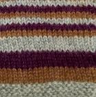 Multicolor 11 Junior Striped Alpaca Fingerless Gloves