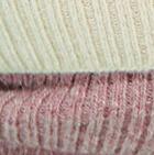 Natural-Ballet Rose Mlge. Unisex Multipurpose Baby Alpaca Ribbed Hat