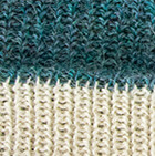 Sky Mlge.-Natural Unisex Reversible knit English Alpaca Hat