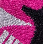 Black-Fuchsia-Grey Heather Alpaca Ski & Snowboard Socks