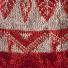 Lt. Grey-Burgundy-Terracota Mlge. Reversible Alpaquita Knit Hat