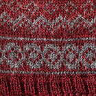 Arctic Alpaca Hat - Fleece Lining in Burgundy Mlge.