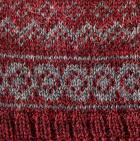Burgundy Mlge. Arctic Alpaca Hat - Fleece Lining