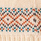 Natural Comb 2 Lille Alpaca Knit Hat - Fleece Lining