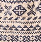 Natural-Steel Blue Winter Alpaca Knit Hat - Fleece Lining