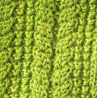 Apple Green Alpaca Cable Fingerless Gloves