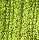 Apple Green Alpaca Cable Fingerless Gloves