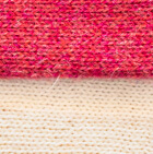 Coral Mlge.-Natural Reversible Alpaca Gloves Heavy Weight