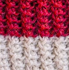 Coral Mlge.-Natural Knitted Alpaca Hat with Flower Bow