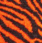 Brown-Orange Zebra Alpaca Socks