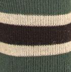 Black-Dk. Teal-Silver Grey Multi Striped Simply Alpaca Socks