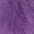 Purple Haze Keychain Baby Alpaca Fur Face 4""