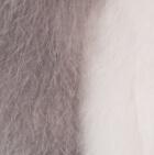 "Grey-White Baby Alpaca Fur - Owl Ornament 9"""
