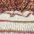 Brushed Striped Alpaca Hat in Natural Comb.2