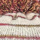 Natural Comb.2 Brushed Striped Alpaca Hat