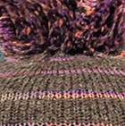 Taupe grey Brushed Striped Alpaca Hat