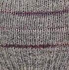 Lt. Grey Brushed Striped Alpaca Fingerless Gloves