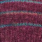 Plum Mlge. Brushed Striped Alpaca Fingerless Gloves
