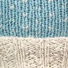 Comb. Aqua-Natural American Brushed Alpaca Hat